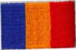 Romania Embroidered Flag Patch, style small (discontinued).